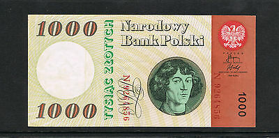 1965 Poland 1000 Zlotych Circulated banknote