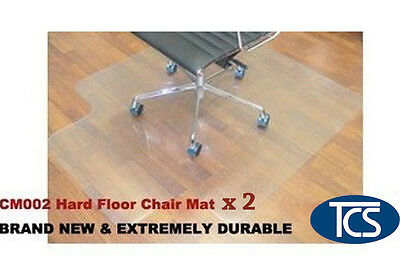2 x New Hard Floor Office Chair Mat Vinyl 1200 x 900mm free shipping