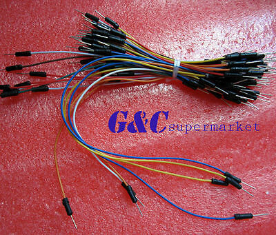 Male to Male  Flexible Breadboard Jumper Cable Wires 65Pcs for Arduino