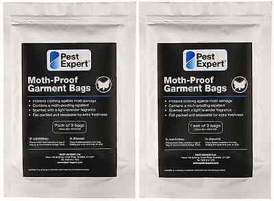 Moth Proof Killer and Clothing Protection Bags from Pest Expert (Pack of 3) X2