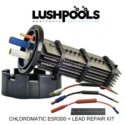 CHLOROMATIC / AQUACHLOR ESR300 C250 MC30C Chlorinator Cell + 1/2 Lead Kit