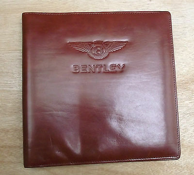 A5 Leather folder document holder album with Bentley logo (style 206)