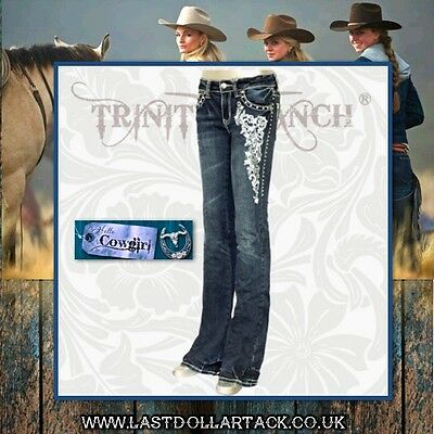 Trinity Ranch Collection Designer Jeans-Embroidered With Crystals -Size 10/12