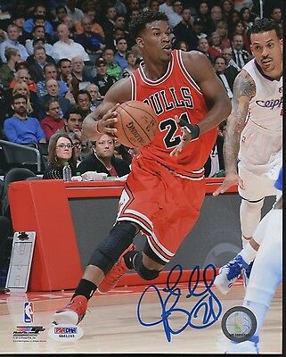 Psa/dna Jimmy Butler #21 Autographed Signed 8X10 Color Chicago Bulls Photo #3