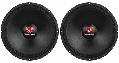 "(2) New Rockville RVP15W4 2000 Watt 15"" Pro Subwoofers 4 Ohm Raw Sub Woofers"