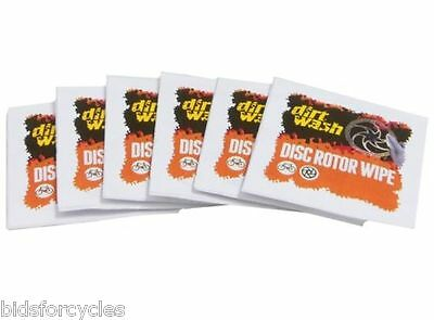 Weldtite Dirt Wash Bicycle Cycle Disc Rotor Brake Cleaning Wipes - 6 Pack