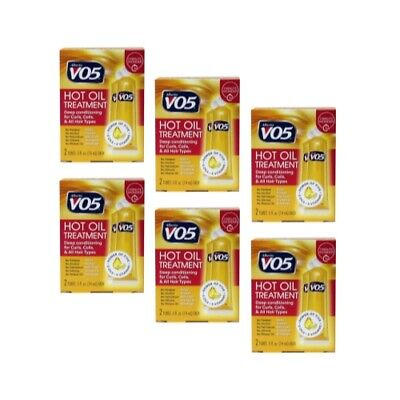 Alberto VO5 Moisturizing Hot Oil Treatment, 0.5 Ounce, 2-Count Tubes (6 Pack)