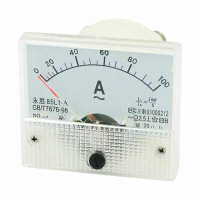 85L1-A Class 2.5 Accuracy AC 0-100A Analogue Display Ammeter New