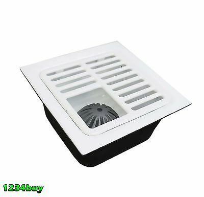 "Floor Sink 12""x12""x6"", 2"" Drain & Top Grate with Dome Strainer, FS-1262+FS-T3/4"