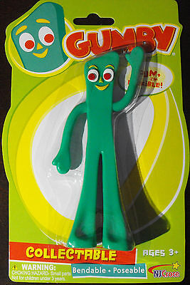 GUMBY 6 Inch Bendable and Poseable Action Figure - NJ Croce - Brand New
