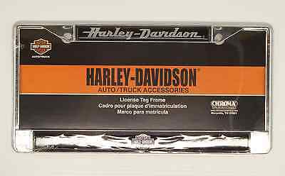 HARLEY DAVIDSON License Plate Frame Chrome Motorcycle
