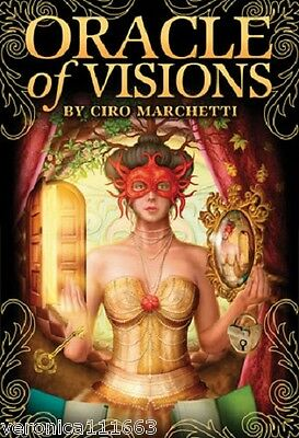 Oracle of Visions NEW Sealed 55 Cards 140pg Illustrated book Ciro Marchetti