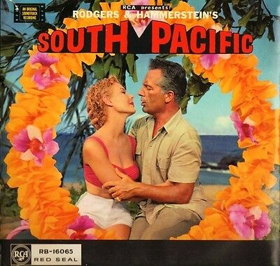 SOUTH PACIFIC original soundtrack LP PS EX/VG rca red seal RB 16065