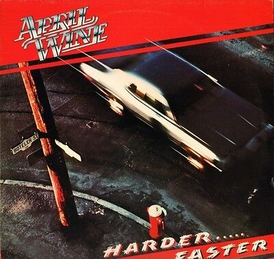APRIL WINE harder faster EST 12013 1/1 1st press uk capitol 1979 LP PS EX/EX