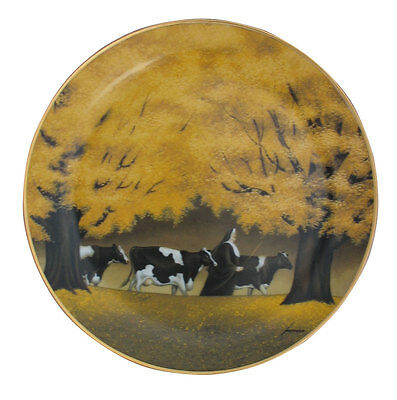 Heading for Home Limited Edition Lowell Herrero Franklin Mint Cow Plate