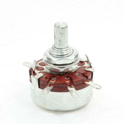 WTH(118) 2W 1.5K Ohm Single Turn Carbon Composition Rotary Taper Potentiometer