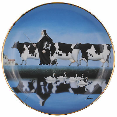 Follow The Leader Limited Edition Lowell Herrero Franklin Mint Country Cow Plate