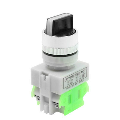ON/OFF/ON Three 3 Position Rotary Select Selector Switch 22mm 4 Screw Terminals