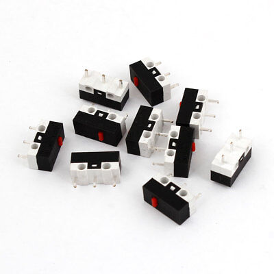 10Pcs DC 30V 0.05A 1NO + 1NC Press On-Off Button SPDT Micro Switches