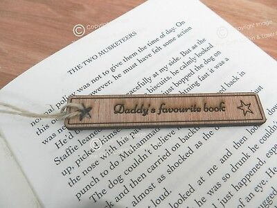 Personalised Engraved Wooden Bookmark Gift Teacher Birthday Wedding Christmas