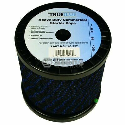 "Stens 146-927 True Blue 100' Starter Rope 3/16"" Diameter / #6 Solid Braid"