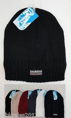 Wholesale Lot 144 Thermal Insulated Solid Color Winter Knit Beanie Hats