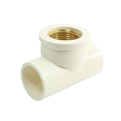 "1"" PT Female Threaded T Shape Plain Equal Tee PVC-U Pipe Connector Fitting"