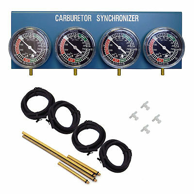New Motorcycle Carb Carburettor Vacuum Balancer Gauge 2/3/4 Cylinder Gauges Kit