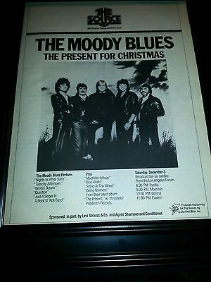 The Moody Blues Present For Christmas Rare Original Promo Poster Ad Framed!