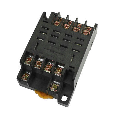 DTF14A 35mm DIN Rail Power Relay Socket Base 14 Pin for MY4NJ HH54P MY4