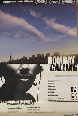 "Bombay Calling 2006 Movie Poster 10.5"" x 17"" Very Good Condition"