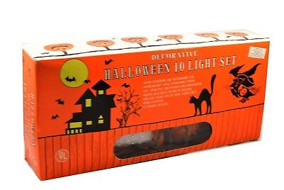 Vintage Halloween Decorative 10 Light String Light Pumpkin Jack O Lantern Lites