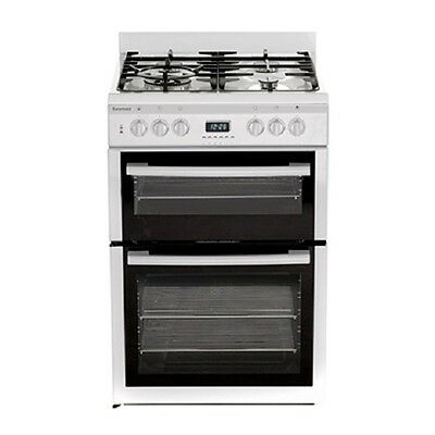 Euromaid GDDW60 60CM WHITE UPRIGHT STOVE GAS TOP ELECTRIC GRILL & OVEN