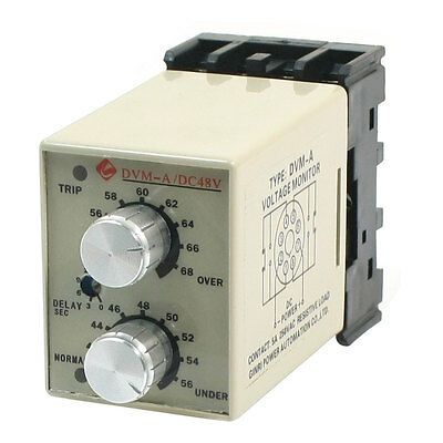 DVM-A/48V DC 48V Adjustable Over/Under Voltage Protection Monitoring Relay
