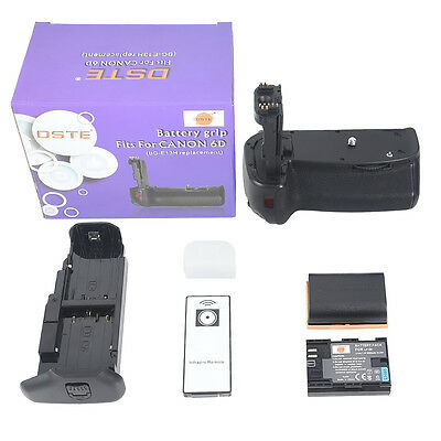 DSTE BG-E13 BGE13 Battery Grip With Remoter + 2x LP-E6 Battery for Canon EOS 6D