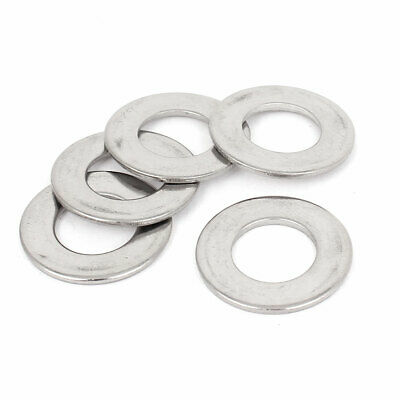 5 Pcs 304 Stainless Steel Flat Washer M14 x 28mm x 2mm for Screws Bolts