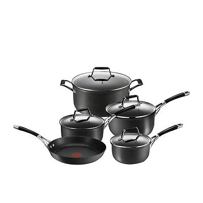 NEW Tefal Excellence Hard Anodised 5pc Cookware Set (RRP $400)