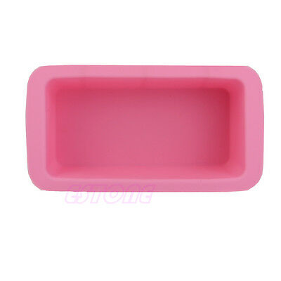 1PC Silicone Rectangle Mould Ice Cube Tray Cake Muffin Soap Cupcake DIY Molds