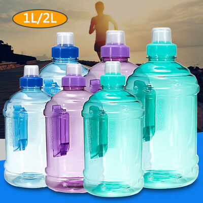 1L 2L Outdoor Sports Big Drink Large Water Bottle Kettle BPA Free Picnic Party
