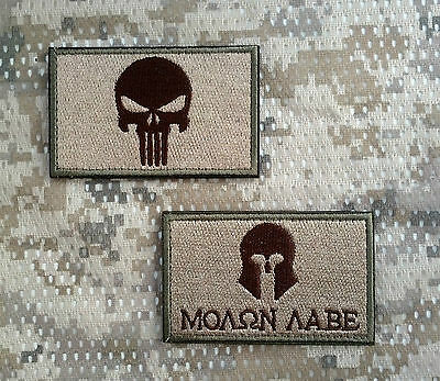 Aufnäher Patch Morale Klett Tactical Tac Sparta Prepper EDC Punisher Molon Labe