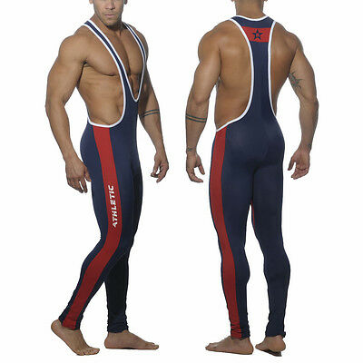 Star B Mens Wrestling Singlet Full Bodywear Tight Jogging Pants New Cycling Suit