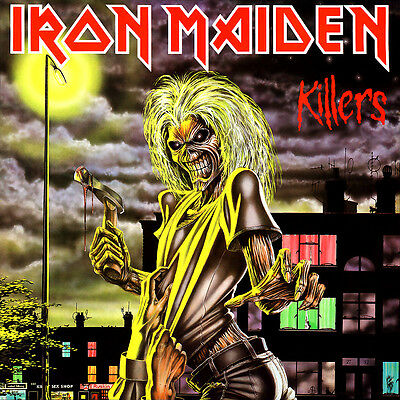 """2.5"""" Iron Maiden Killers STICKER. Eddie, the Trooper, Number of the Beast Live"""