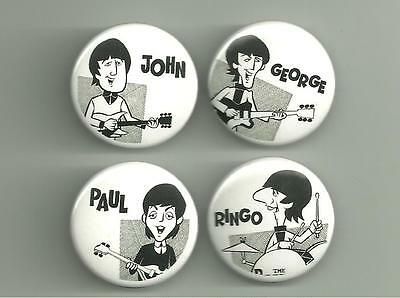 Beatles Cartoon 1.5 inch Pins / Buttons or Magnets Lot 5