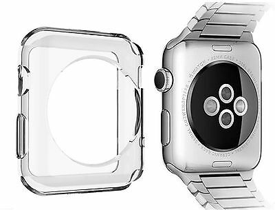 Slim Crystal Clear Transparent Soft Gel Silicone Case Cover for Apple iWatch