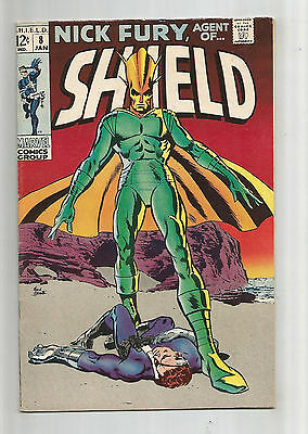 """NICK FURY AGENT OF SHIELD #8 Silver Age Grade 7.0 Find """"Thus Speaks Supremus""""!!"""