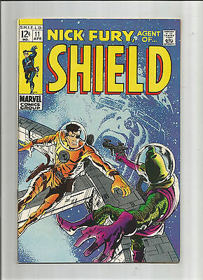 NICK FURY AGENT OF SHIELD #11 Silver Age Grade 8.0 Featuring The Hate-Monger!!