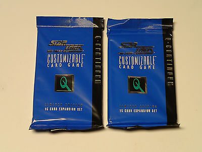 STAR TREK CCG The Next Generation Q-CONTINUUM Sealed Lot of 2 Booster packs!