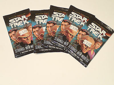 STAR TREK CCG 2nd EDITION STRANGE NEW WORLDS Sealed Lot of 5 Booster packs