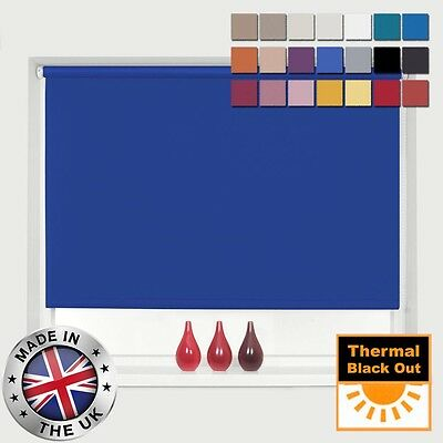 Made To Measure 100% Thermal Blackout Roller Blinds - Easy To Fit