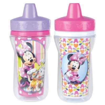 9 Ounce Minnie Mouse Toddler Baby Insulated Spill Proof Training Sippy Cup
